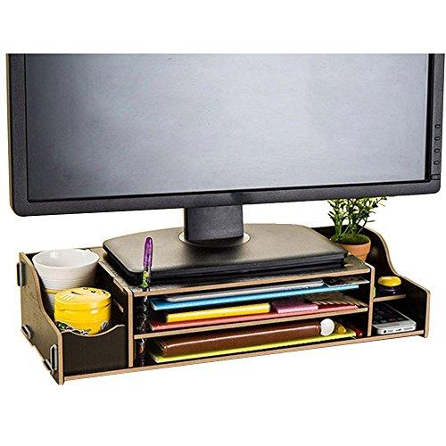 Natamo Computer Monitore Riser schützen zervikale hölzerne Laptop Ständer, schwarz