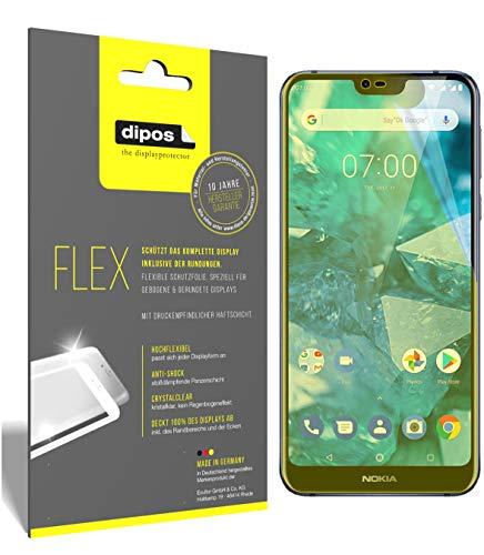 dipos I 3X Schutzfolie 100% passend für Nokia 7.1 Folie (Vollständige Bildschirmabdeckung) Bildschirmschutzfolie