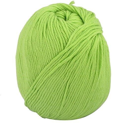 Proto Cool Rasen-Grün: Acrylfaser-Strickjacke-Hut-Handschuh-Pantoffel häkeln spinnendes Garn-Schnur-Faden 50g Rasen-Grün