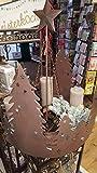 Adventskranzständer Bäume rund Metall antik-braun Höhe 60 cm, Weihnachten, Christmas
