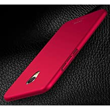 PREVOA Colorful Plastico Duro Funda Case Protictive para Meizu M3 Max - Smartphone 6,0 Pulgadas - Rojo