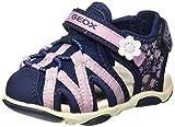 Geox B Sandal Agasim Girl B, Sandales bébé Fille,Bleu (Navy C4002) , 25 EU