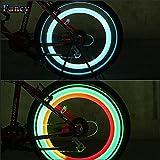 E-PRANCE Hot Sale Doppelseitiges Fahrrad Speichen Light Wind Fire Rollen Silica Gel Spoke Light Steel Draht Lampe Mountain Bike Wheel, rot