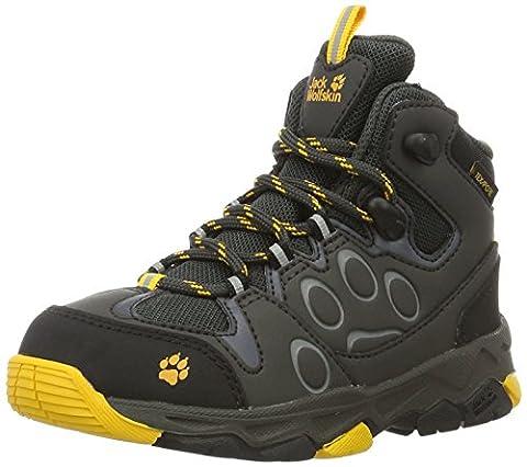 Jack Wolfskin Unisex-Kinder Mtn Attack 2 Texapore Mid K Trekking-& Wanderstiefel, Grau (Burly Yellow), 37 EU
