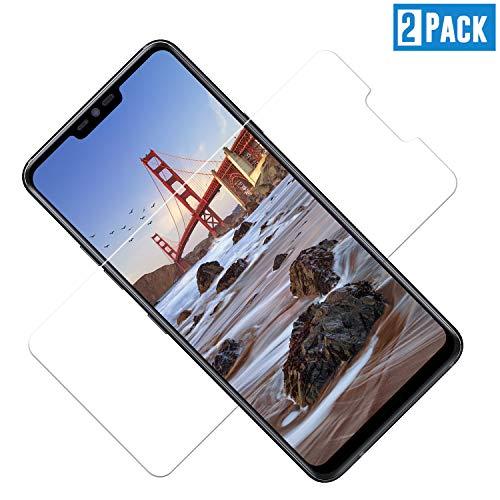 TOIYIOC [2 Stück] Panzerglas Schutzfolie für LG G7 ThinQ, 0.30mm Ultra-klar Folie Panzerglasfolie, Bildschirmschutzfolie kompatibel LG G7 ThinQ