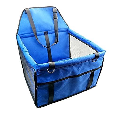 Yuno Dog Carrier for Car Booster Seat Folding Soft Washable Pet Travel Carrier Cat Outdoor Hiking Bag Blue