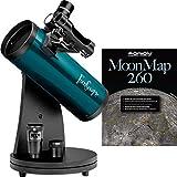 Orion 10033tavolo Funscope 76mm telescopio riflettore Moon kit (blu)