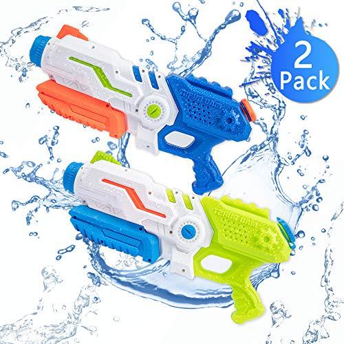 Strand Wasser (Bheddi Wasserpistole Wasserspritzpistolen 2 Pack 700ML Wasserpistolen für Kinder, Hohe Kapazität Wasserpistole Spielzeug Passt Outdoor Party Pool Strand Wasser Kampf Spiel (2 Pack))