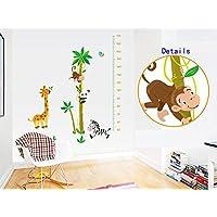 Animali Giraffe Panda scimmia Zebra albero di cocco Bambini tabella