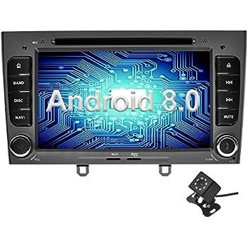 Ohok 7 Pulgadas 2 DIN Autoradio Android 8.0 Oreo Octa Core 4GB Ram 32GB ROM Reproductor DVD/GPS Navegador Soporta Bluetooth WiFi AV-IN para Peugeot 308 Gris ...