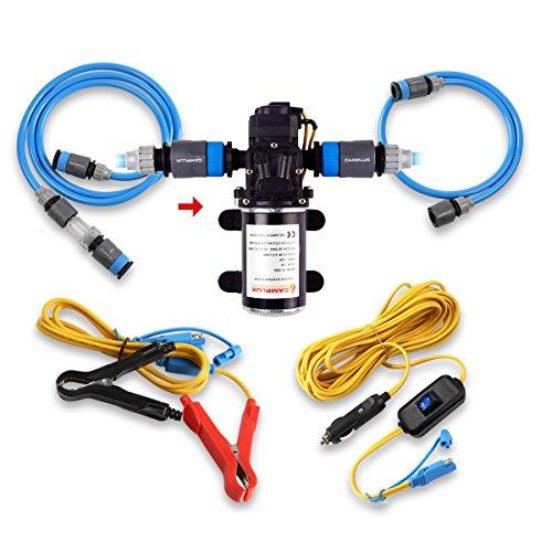 Camplux 12V Wasserpumpe, 6 l/min, 65PSI Hochdruck,… | 00769700686852