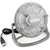 mumbi MUMBI_3037, mumbi USB Tisch Ventilator Mini Fan Venti für Computer Notebook Laptop grau