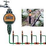 FIXKIT Timer di Irrigazione Elettronico, Regolatore Digitale per Irrigazione, Irrigazione Automatica per Giardino, Prato