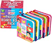 Amazon Brand - Solimo First Padded Board Book Pack, Set of 5