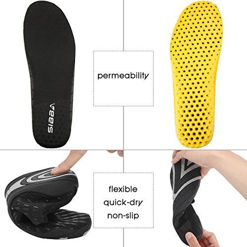 Tauchschuhe/ Strandschuhe/ Aquaschuhe/ Surfschuhe Schnelltrockn für Herren und Damen Schwarz