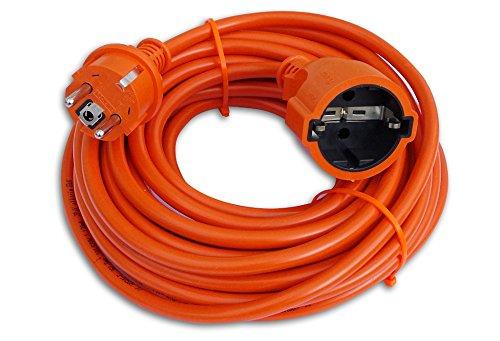 Preisvergleich Produktbild Verlängerungskabel Verlängerung Strom-Kabel Mit Schuko Garten IP44 ORANGE (20 Meter)