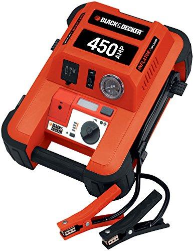 51FrstnVJ L - Black & Decker BDJS4501 450A Arrancador portátil de baterías con Compressor de 120 PSI, Color Naranja/Negro,