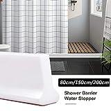GGZX Strisce divisorie per Pavimento in Acqua a soglia Pieghevole per Acqua da Bagno con barriera in Gomma per Doccia con Colla 80/150 / 200cm, 200cm
