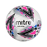 mitre Delta Futsal Football Mixte, Blanc/Rose, 3