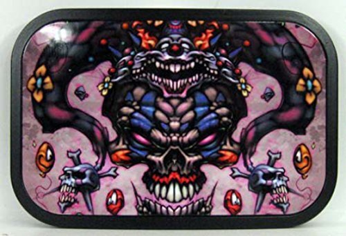 Comic Skull Buckle - Skull, tatuaggio - Fibbia