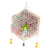 #6: MagiDeal Pet Swing Bird Climb Chew Toy Parrot Cage Hanging Toy Bell Cockatiel Budgie