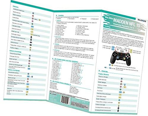 Madden NFL 15 - Die komplette Spielsteuerung groß auf einen Blick!: Version für PS3 und PS4 von Christian Bildner (3. April 2015) Broschiert - Ps3-madden 15