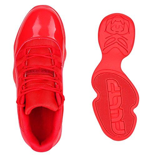 Herren Laufschuhe Sneakers Runners Sportschuhe Lack Rot Autol