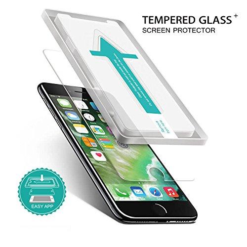 CASYLT iPhone 6 / 6s Plus Panzerglas Displayschutz-Folie [Premium Glas Qualität] inkl. Montage-Schablone für eine perfekte Passgenauigkeit!
