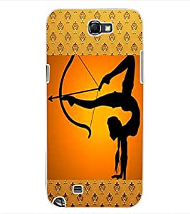 ColourCraft The Archer Design Back Case Cover for SAMSUNG GALAXY NOTE 2 N7100
