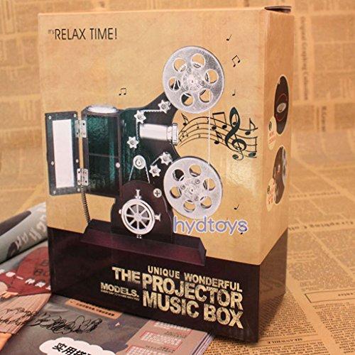 Preisvergleich Produktbild Generic Retro-Filmprojektor Mechanischen Musikspieldose, hohe Qualität, Geschen, Haus Tisch Wohnzimmer Büro Dekoration