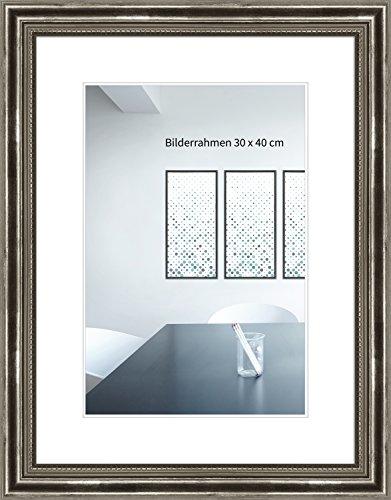Holzrahmen Antik 21 x 29,7 (A4) cm silber Normalglas