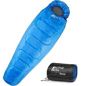 Active Era™ Professional 300 Mumienschlafsack - Premium Schlafsack für Outdoor Camping, 3-4 Jahreszeiten