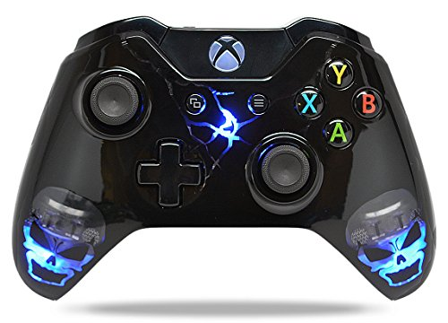 Skulls Black Xbox One Rapid Fire Custom Modded Controller 40 Mods für alle großen Shooter Spiele, Quick Scope, Sniper Breath, Burst Fire, Auto Aim, Jump Shot und mehr (mit 3,5 Klinke) - Controller One Xbox Cod