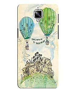 Citydreamz Come With Me/Touch The Sky/Balloons/Abstract Design Hard Polycarbonate Designer Back Case Cover For OnePlus 3