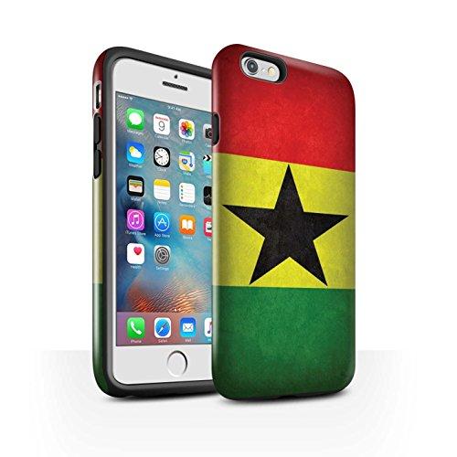 STUFF4 Glanz Harten Stoßfest Hülle / Case für Apple iPhone 7 / Russland/Russische Muster / Flagge Kollektion Ghana/Ghanaischen