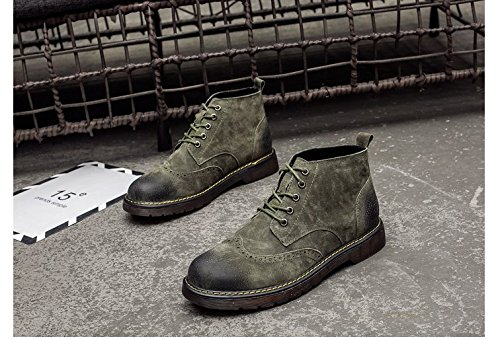 HL-PYL-alti Stivali Stivali Stivali Martin Helper retrò Stivali Stivali nel maschio. green