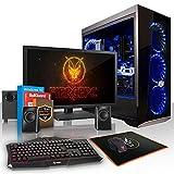 Fierce Berserker RGB Gaming PC Pacchetto - Veloce 8 x 4.1GHz Octa-Core AMD Ryzen 7 2700, 1TB Disco Rigido, 8GB di 2666MHz DDR4 RAM / Memoria, NVIDIA GeForce GTX 1080 Ti 11GB, ASUS ROG STRIX B450-F GAMING Scheda Madre, Cooler Master MasterBox Lite 5 RGB Cassa, HDMI, USB3, Wi - Fi, VR Pronto, 4K Pronto, Perfetto per i giochi di fascia alta, Windows 10 installato, Tastiera (UK/QWERTY), Mouse, 24 pollici Monitor, Altoparlanti, 3 Anni Di Garanzia 997393