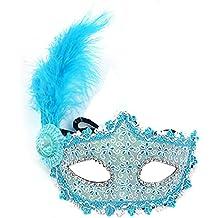 Fashion Peach pintado a mano máscara veneciana Masquerade Máscara de Plumas de Princesa Disfraz de novia boda