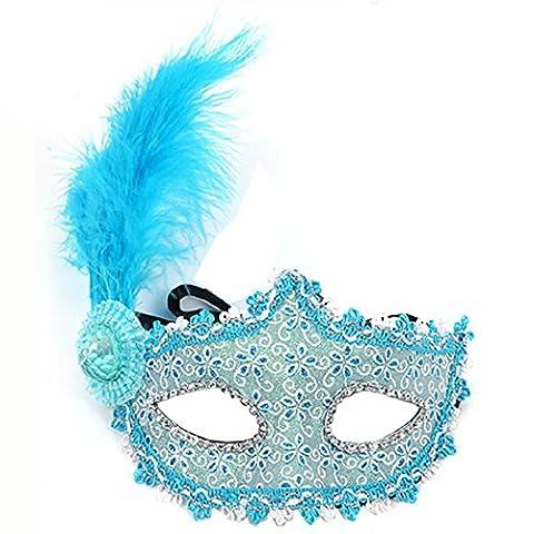 Fashion Pfirsich handgemaltes Venezianische Maske Princess Feder Maske Kostüm Ball Ball Hochzeit (Coole Purge Kostüme)