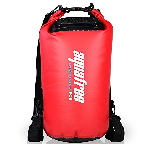 aquafree-dry-bag-20l-red-dry-backpack-comfortable-and-heavy-duty-grab-handle-shoulder-strap-best-mat