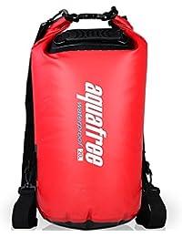 Bolsa seca Aquafree, calificado Roll Top bolsa impermeable, tamaño opcional, rojo 100% impermeable bolsa seca, color rojo, tamaño 20 L