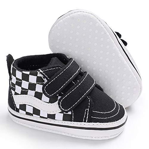 Babycute Kleinkind Schuhe Baby Junge Mädchen Weiche Sohle Leinwand Sneaker - Weiße Krippe Schuhe