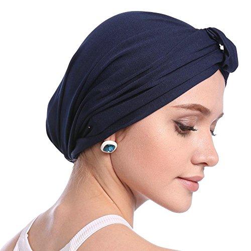 b68d8d9d63 Cappello chemoschiotto per donna Cappelli Turbanti Cappello tinta unita  cinturino elastico per capelli semplice Chemioterapia Cappello