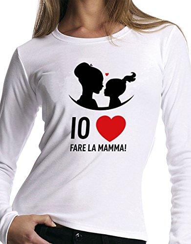t-shirt manica lunga festa della Mamma - Amo fare la Mamma, love - S M L XL XXL uomo donna bambino maglietta by tshirteria