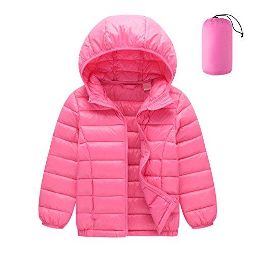 Deylaying des Gamins Garçons Filles Canard Doudoune Coupe-Vent Combinaison de Ski Encapuchonné Chaud Pardessus Vêtements d'extérieur