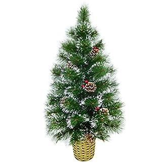Christmas Concepts® 90cm Decorado Árbol de Pared Helada con Conos Naturales y Bayas – Árbol de Navidad de Pared