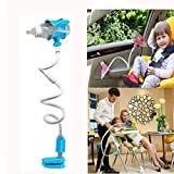 LY-LD Baby Bottle Holder 360 º Rotation Multifunktion Holder Hands Free for Bed/Crib/Safety Seats/Baby Carriage,Blue