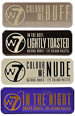 W7 Ultimate Eye Shadow Palette Collection,Colour Me Buff, In The Nude, In The Night & In the Buff Lightly Toasted by w7