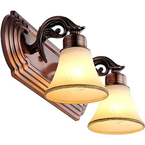 Modylee Lámpara de posición delantera espejo en la luz del espejo del cuarto de baño Dormitorio Luz Espejo continental, armario, espejo, retro lámparas ,