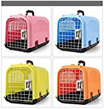 Sxstyswj87 Pet fuori borsa per il trasporto cane gatto rosso blu arancio verde ABS plastica gatto air box Teddy di panda velivoli treno auto all'aperto per animali domestici scatola di spedizione qw